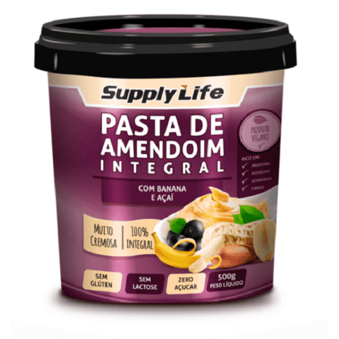 Pasta de Amendoim com Banana e Açaí (500g) - Supply Life