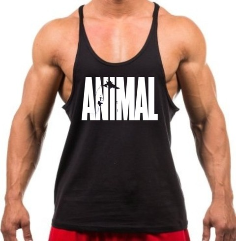Camiseta regata super cavada Animal - comprar online