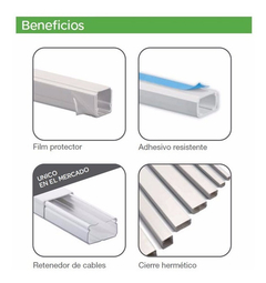 Cable Canal Plastico 100x45 Schneider 2 Metros Ret Cable
