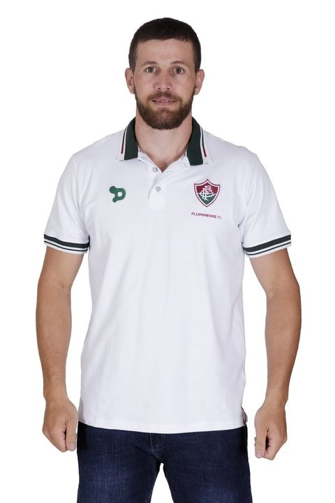 Camisa Polo Fluminense Branca Dryworld