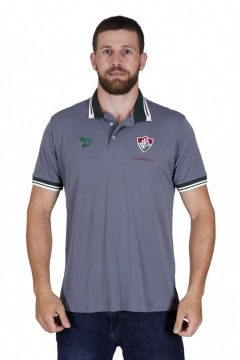Camisa Polo Fluminense Cinza Dryworld 2016 CT