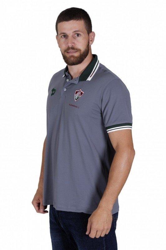 cd66df5ef50f2 Camisa Polo Fluminense Cinza Dryworld 2016 CT