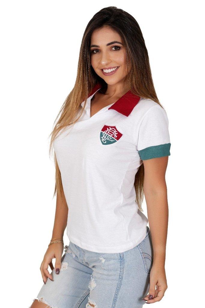 Camisa Fluminense Feminina 1964 Branca - Liga Retrô 75aa68df85462