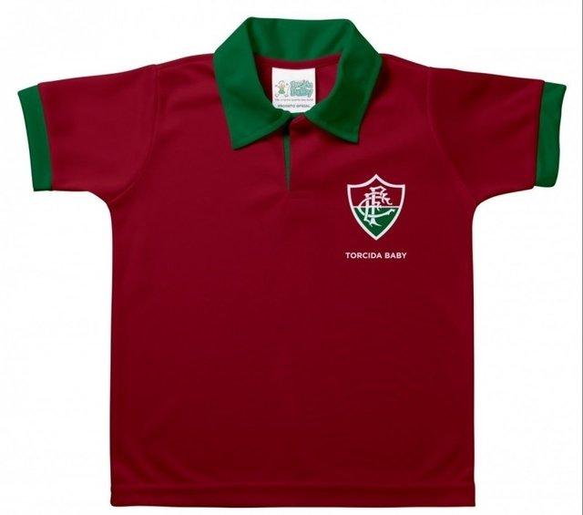 cd4130748b Camisa Polo Fluminense Infantil Grená