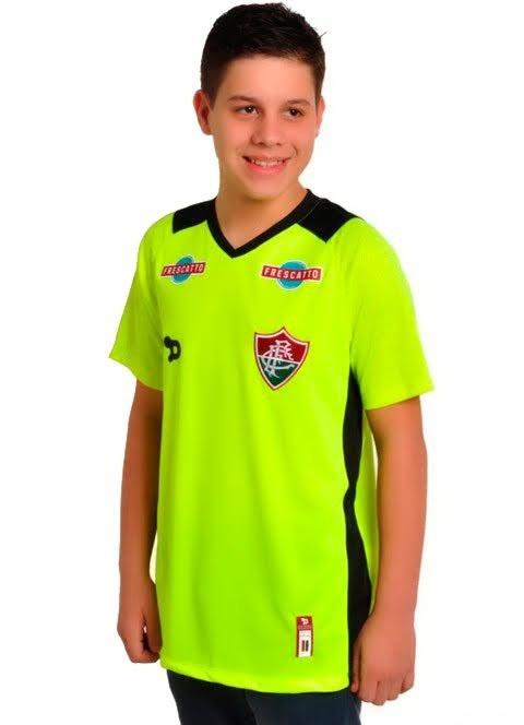 ba3ea28e34 Camisa Fluminense Infantil Goleiro Dryworld 2016 Verde - N°12