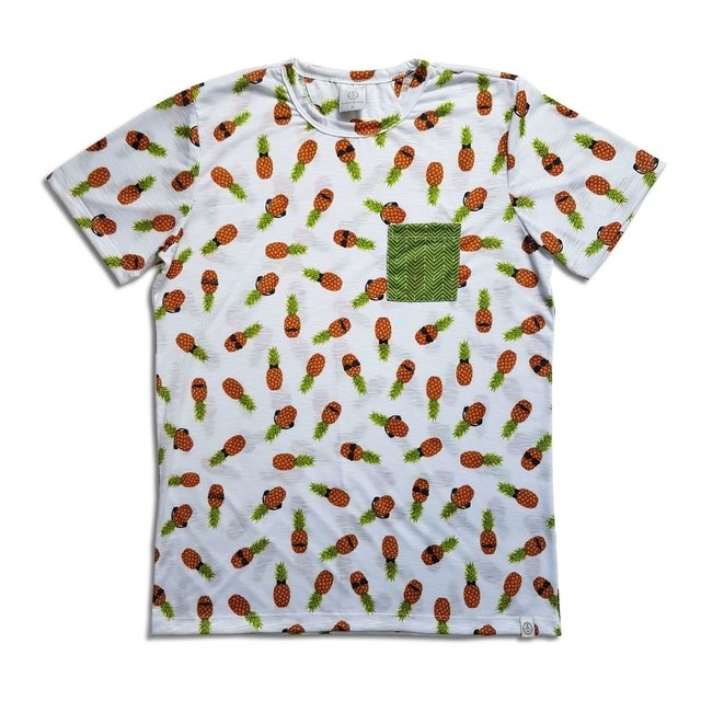Camiseta Estampada - Abacaxis Hipsters