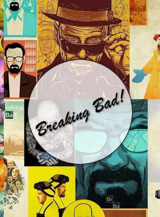 Breaking Bad!  Lámina Decoupage Autoadhesiva 30 x 42 cm