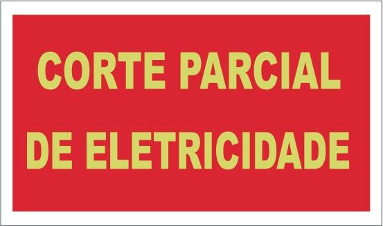 e833cd9caff Placa de Corte Parcial De Eletricidade