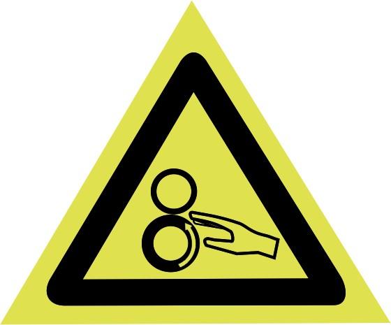 f1524d89266 Placa de Cuidado Maquina Em Movimento