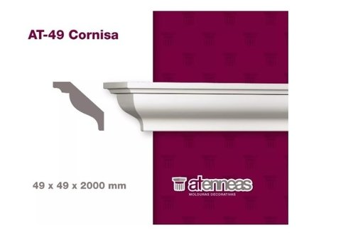 Moldura Cornisa Decorativa AT-49 por 2m Atenneas - comprar online