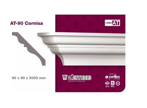 Moldura Cornisa Decorativa AT-90 por 2m Atenneas - comprar online