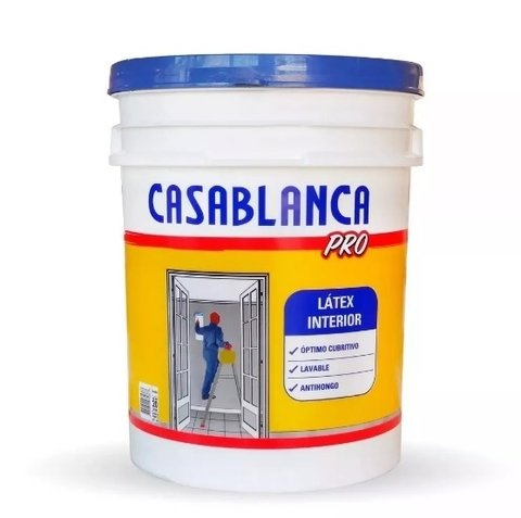 Pintura Latex Casablanca Pro Interior 20 Lts
