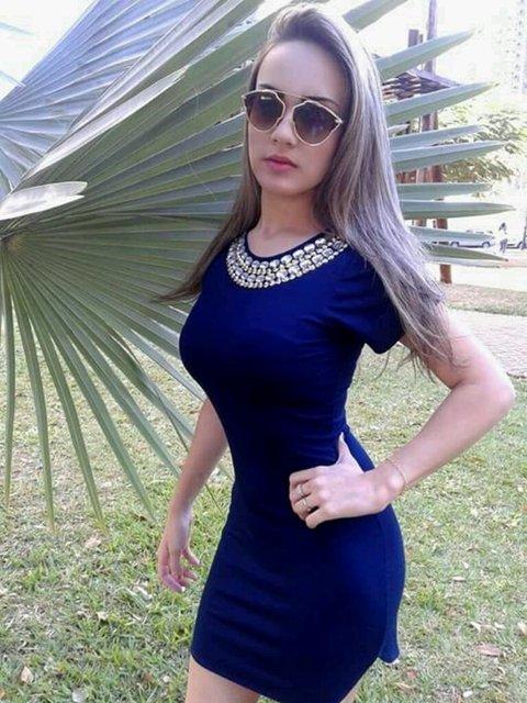 e3ff0a1c14 Vestido Pedraria Na Cor Azul - K Q Confecções Acre
