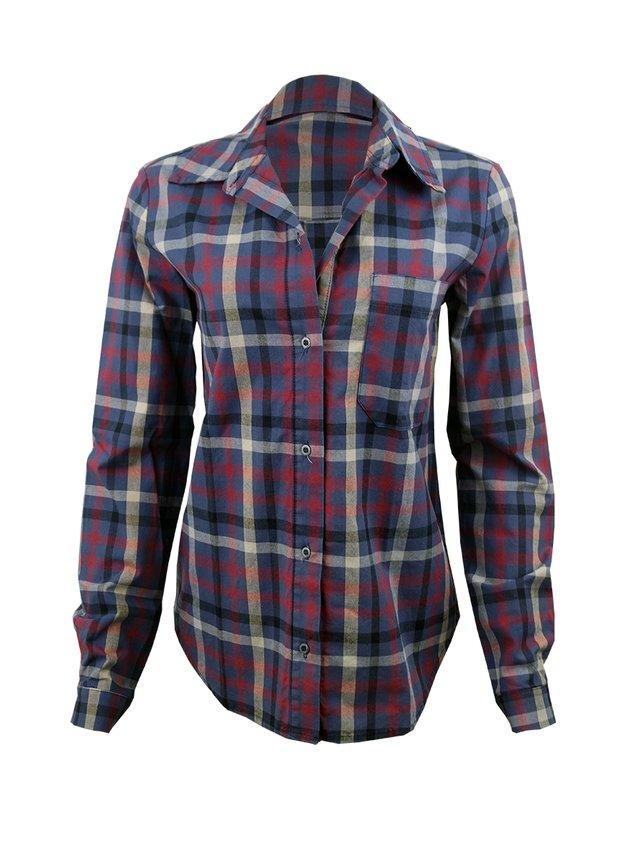 e585b9e8f2 Camisa Xadrez Azul Feminina
