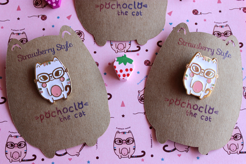 Pines de Enamel - Pochoclo The Cat - comprar online