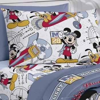 36999627f3 ... 1 Jogo de Cama Duplo Santista Solteiro 3 Peças Disney Mickey Aviador -  comprar online ...