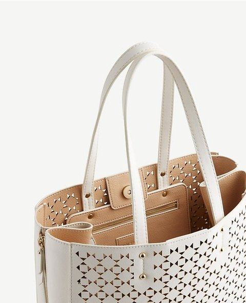 Signature Laser Cut Tote on internet