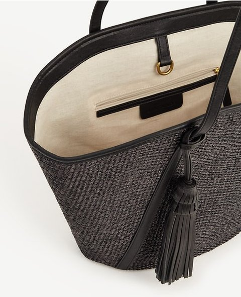 Woven Straw Tote - Material