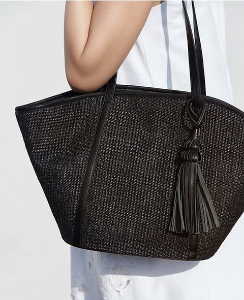 Woven Straw Tote on internet
