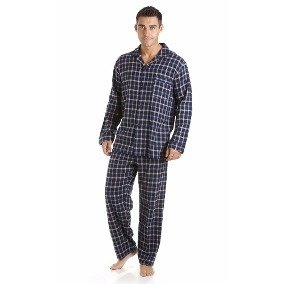 Pijama Mezcla Tela Camisa Manga larga pantalon Largo Polo Club 5a889d783dea6