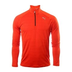 PUMA CORE RUN LS HZ TEE ROJO