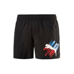 PUMA SHORT BAÑO BIG CAT NEGRO