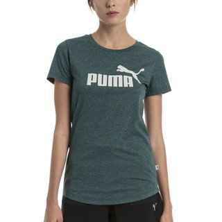 PUMA REMERA ESS+ LOGO HEATHER GRIS