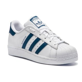 ADIDAS SUPERSTAR JR BCO/AZU