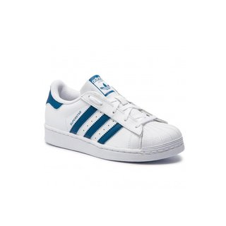 ADIDAS SUPERSTAR CHILD BCO/AZU