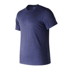 NEW BALANCE REMERA HEATHERTECH AZUL