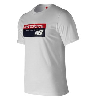 NEW BALANCE REMERA ATHLETICS BLANCA