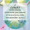 COMBO Taller Online HOJAS TROPICALES + Materiales