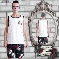 Skulls & Red Roses Tanktop and Shorts Set