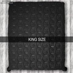 Black Skulls Duvet, King