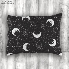 Skull Moon and Stars Pillowcase