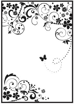 Embossing Folder A4 - Flores