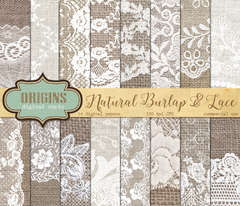 ODC - Natural Burlap & Lace
