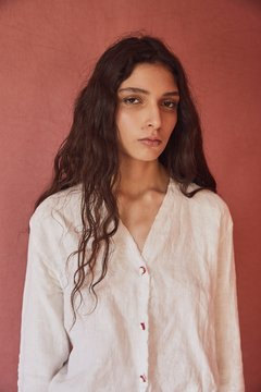 Alpa Kamaska Natural Linen shirt on internet