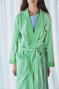 hand-dyed canvas robe nº117 - buy online