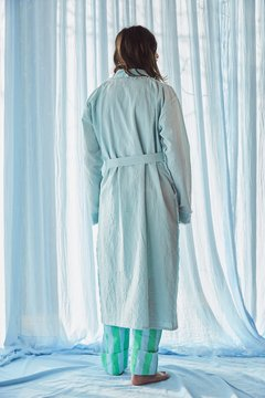 Hand-Dyed velvet and canvas robe nº121 on internet