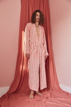 hand-painted canvas striped robe nº129