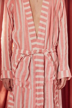 hand-painted canvas striped robe nº129 on internet