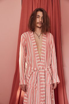 hand-painted canvas striped robe nº129 - buy online