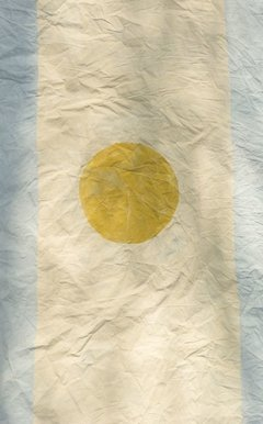 Argentine hand painted Flag - buy online