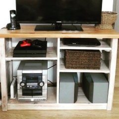 MUEBLE TV blanco vintage - Decopallet
