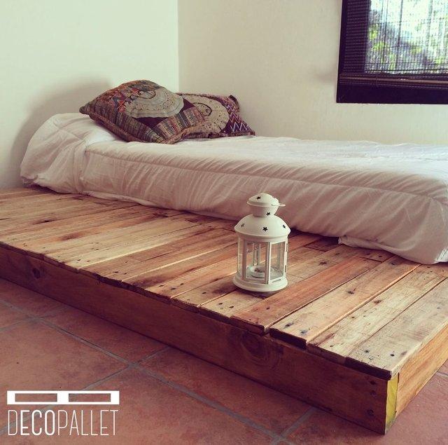Tarima de cama comprar en decopallet for Bases de cama hechas con tarimas