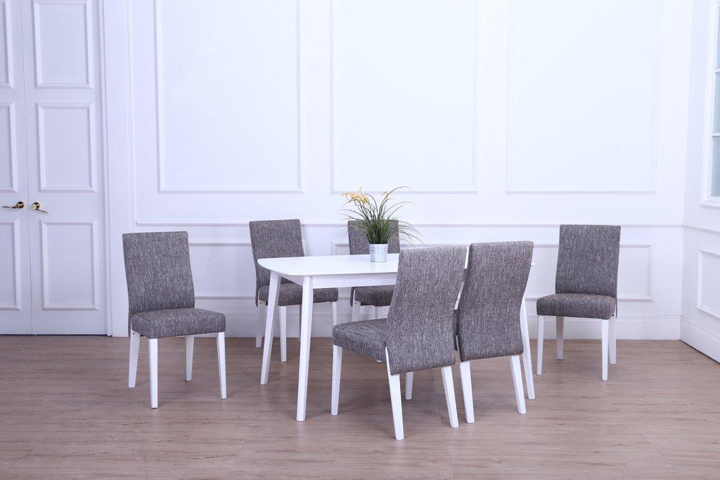 Juego de comedor paris mesa extensible silla en tela - Comedor solidario paris 365 ...