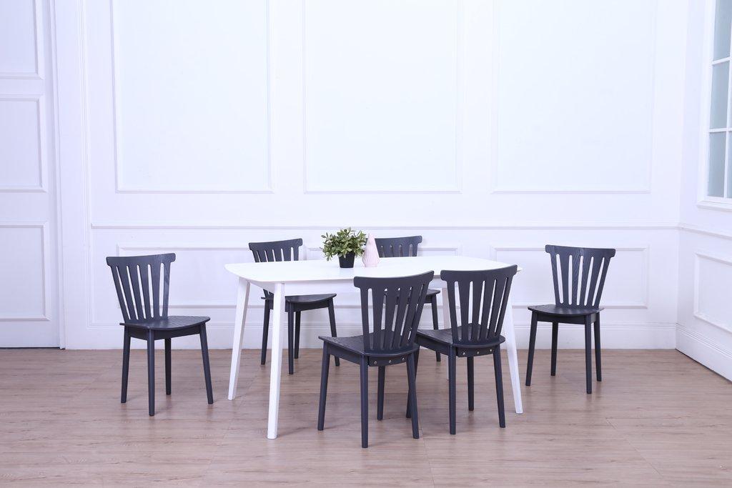 Juego de comedor praga mesa extensible sillas grises for Sillas grises para comedor