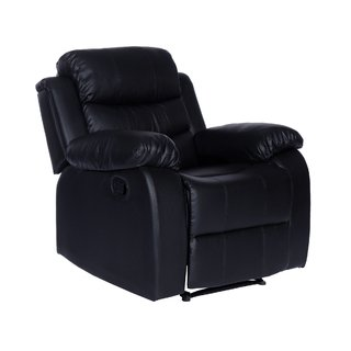 SILLON RECLINABLE 1 CUERPO BEVERLY NEGRO/MARRÓN