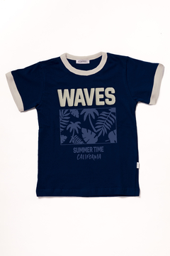 Remera Waves (estampa c/relieve)
